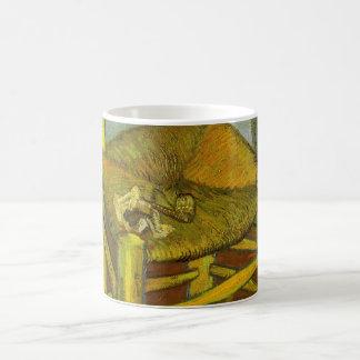 Vincents Stuhl mit seinem Rohr durch Van Gogh Kaffeetasse