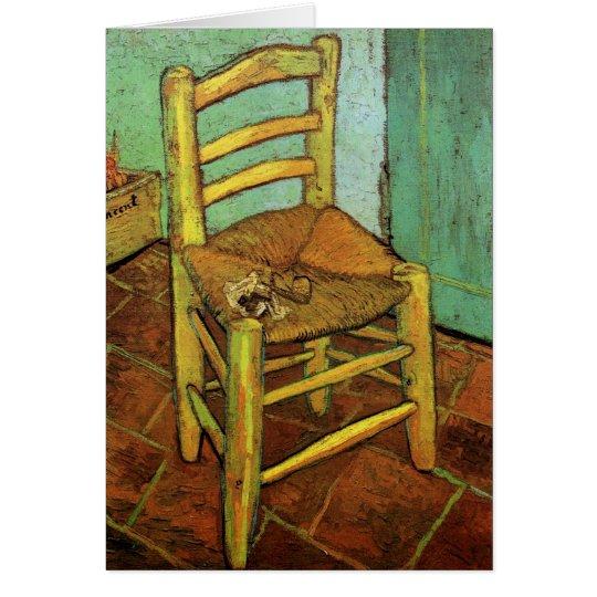Vincents Stuhl mit seinem Rohr durch Vincent van Karte