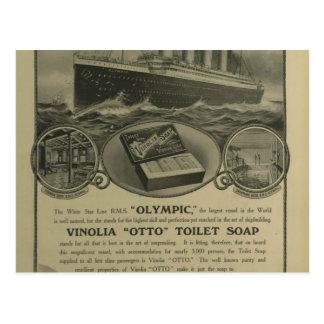 Vinolia Otto Toiletten-Seifenanzeige Postkarte