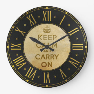 Vintag behalten Sie ruhig und machen Sie Wand-Uhr Große Wanduhr