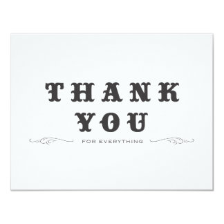 Vintag danke doppelseitig 10,8 x 14 cm einladungskarte