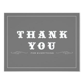 Vintag danke doppelseitig individuelle einladungen