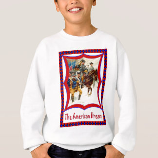 Vintag Juli 4., amerikanisches patriotisches Sweatshirt