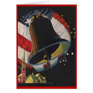 Vintag Juli 4. Karte
