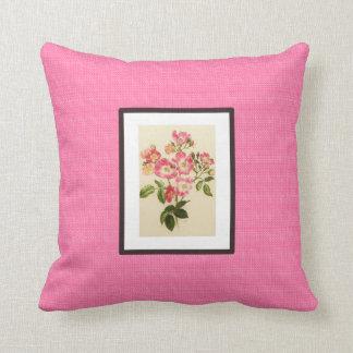 Vintag-Kunst-Rosa-Frühling--Lumbales ml Kissen