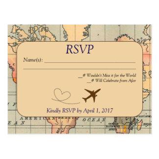 Vintag, Reise-Hochzeit UAWG Postkarte
