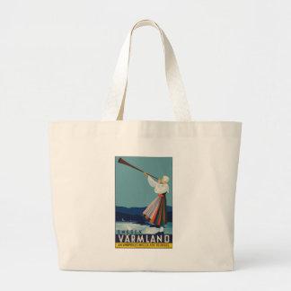 Vintag-Reise-Plakat-Schweden Jumbo Stoffbeutel