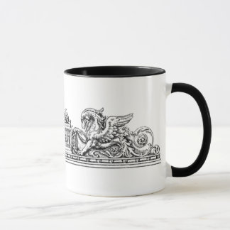 Vintag - Seepferd-und Greif-Insignien Tasse