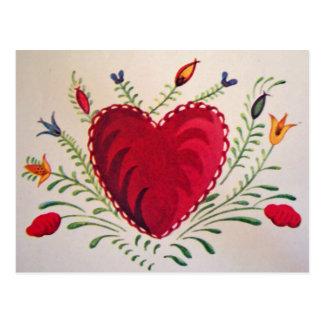 Vintag: Valentinstag - Postkarte