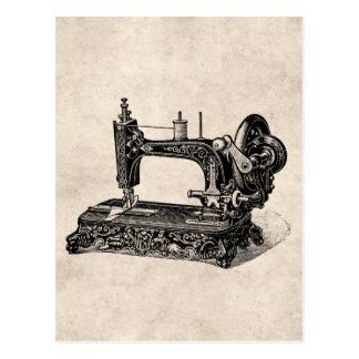 Vintage 1800s Nähmaschine-Illustration Postkarte
