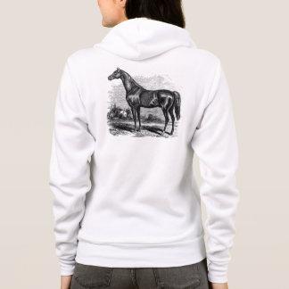 Vintage 1800s Rennen-PferdeRetro Hoodie
