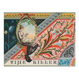 """Vintage 1800s """"Zeit-Mörder-"""" Postkarte"""