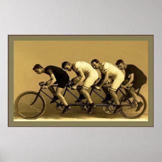 ~ vintage 1898 de photographie de ~ de quadruple d affiche