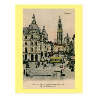 Vintage 1900s Antwerpen Belgien Suikerrui, Postkarte