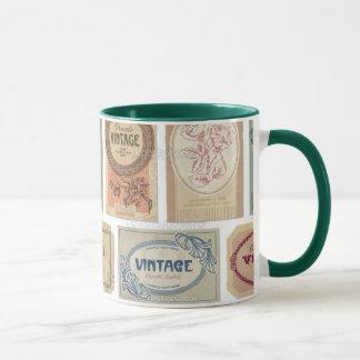 Vintage 2 zerteilt tasse