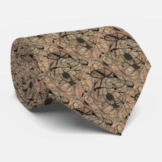 Vintage abstrakte Muster-Krawatte Bedruckte Krawatte