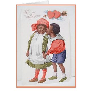 Vintage afrikanische amerikanische Karte des