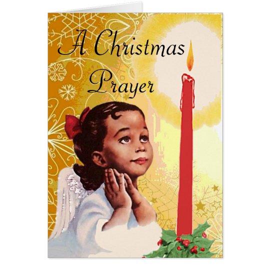 Vintage afrikanische amerikanische Weihnachtskarte Grußkarte