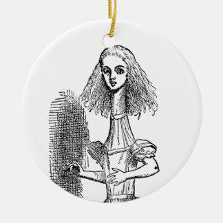 Vintage Alice-Abenteuer im Märchenland durch Keramik Ornament