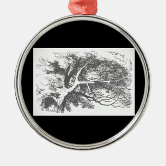 Vintage Alice im Silbernes Ornament