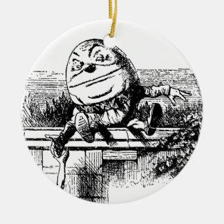 Vintage Alice im Wunderland, Humpty Dumpty auf Rundes Keramik Ornament