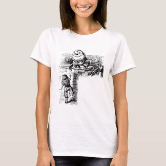 Vintage Alice im Wunderland, Humpty Dumpty auf T-Shirt