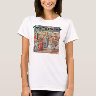 Vintage Alice im Wunderland mit roter Königin T-Shirt