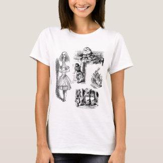 Vintage Alice im Wunderland, Tenniel Charaktere T-Shirt