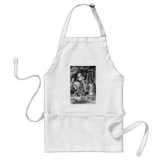Vintage Alice im Wunderland-weißer Ritter auf Schürze