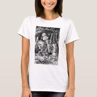 Vintage Alice im Wunderland-weißer Ritter auf T-Shirt