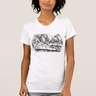 Vintage Alice im Wunderland-wütender T-Shirt