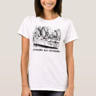 Vintage Alice im Wunderland-wütendes Tee-Party T-Shirt