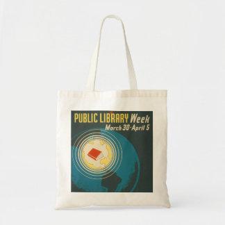 """Vintage """"allgemeine Bibliotheks-Wochen-"""" Tasche"""