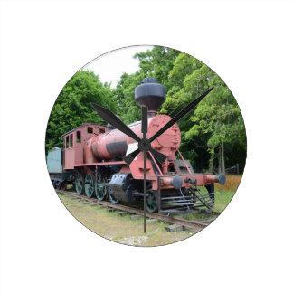 Vintage amerikanische Dampf-Lokomotive Runde Wanduhr