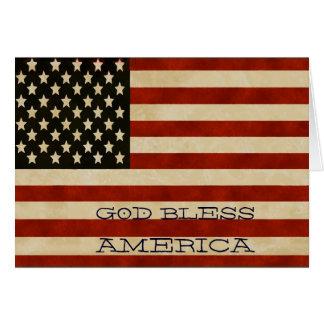 Vintage amerikanische Flagge GESCHENKE Karte