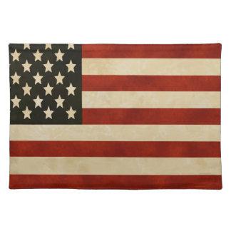 Vintage amerikanische Flagge GESCHENKE Tischset