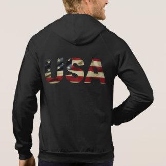 Vintage amerikanische Flagge Hoodie