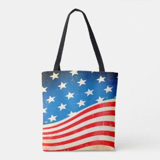 Vintage amerikanische Flagge Tasche
