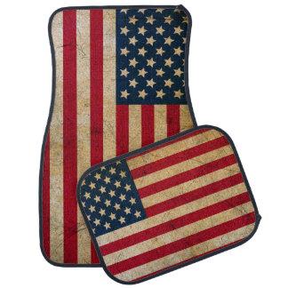 Vintage amerikanische Flaggen-Auto-Boden-Matte Autofußmatte