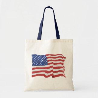 Vintage amerikanische Flaggen-Tasche Tragetasche