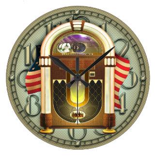 Vintage amerikanische Jukebox-Wand-Uhr Große Wanduhr
