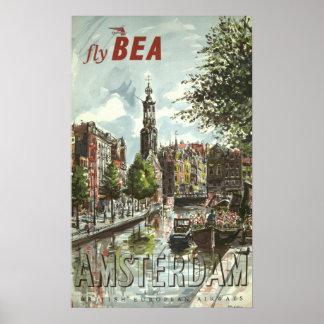 Vintage Amsterdam-Reise Poster