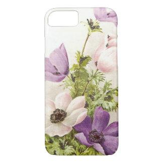 Vintage Anemonen-Blumen iPhone 8/7 Hülle