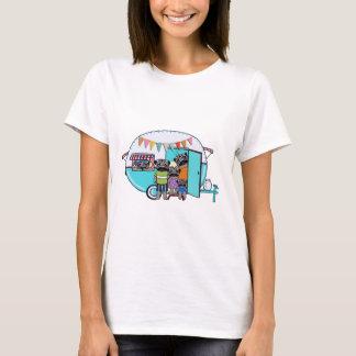 Vintage Anhänger-Möpse T-Shirt