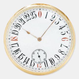 Vintage antike Taschen-Uhr Runder Aufkleber