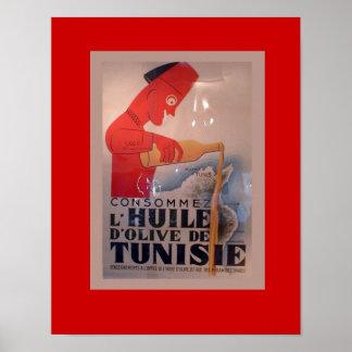 Vintage Anzeige, L'Huile d'Olive de Tunisie Posterdruck