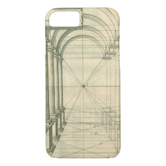Vintage Architektur, Bogen-Spalten-Perspektive iPhone 8/7 Hülle