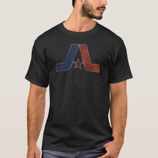 Vintage Arlington-Logo-Dunkelheit verblaßte T-Shirt