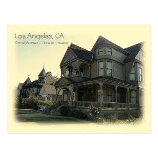 Vintage Art-Carroll-Allee. Los Angeles-Postkarte! Postkarte