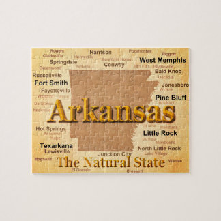 Vintage Art-Karte Arkansas